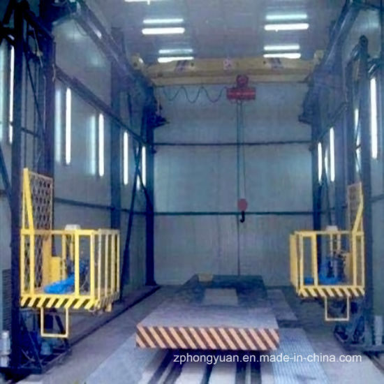 Bus Spray Booth with 3-D Lift and Diesel/Oil Burner