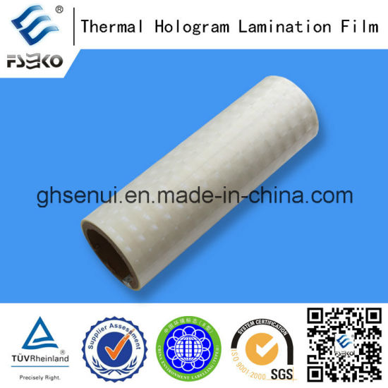 Hologram Laminating Film with EVA Glue-Laser Thermal Laminating Film (36mic) pictures & photos