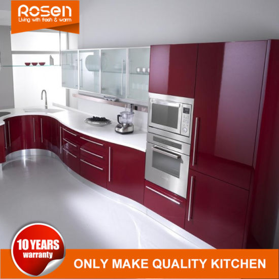 Modern Style Red Colors Online Pvc Kitchen Cabinets Furniture
