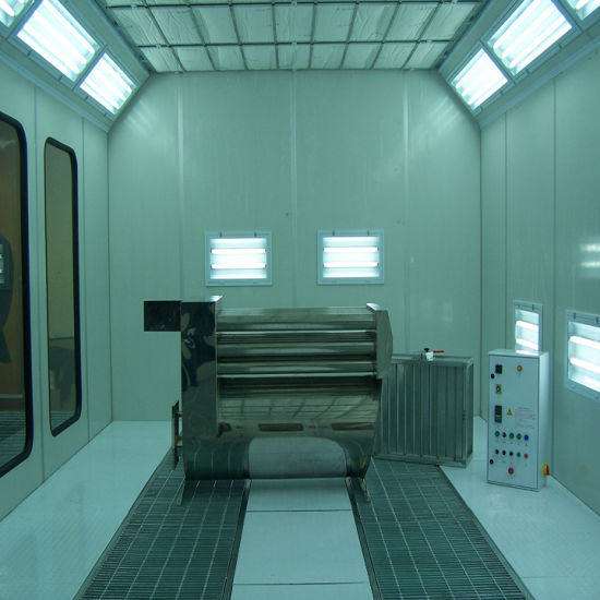Automotive Paint Booth with Intake Fan and Exhaust Fan