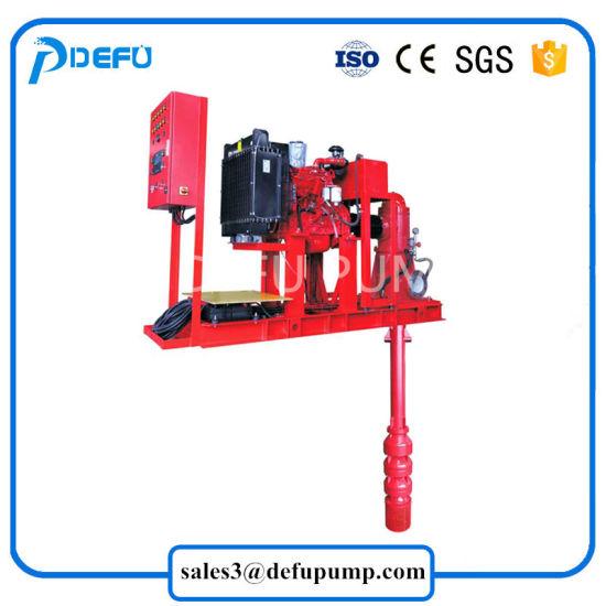 Vertical Turbine Engine Driven Diesel Centrifugal Fire Water Pump/Long  Shaft Fire Pump