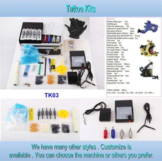 China Wholesale Cheap 3 Gun Type Tattoo Kit for Sale Tk03 - China ...