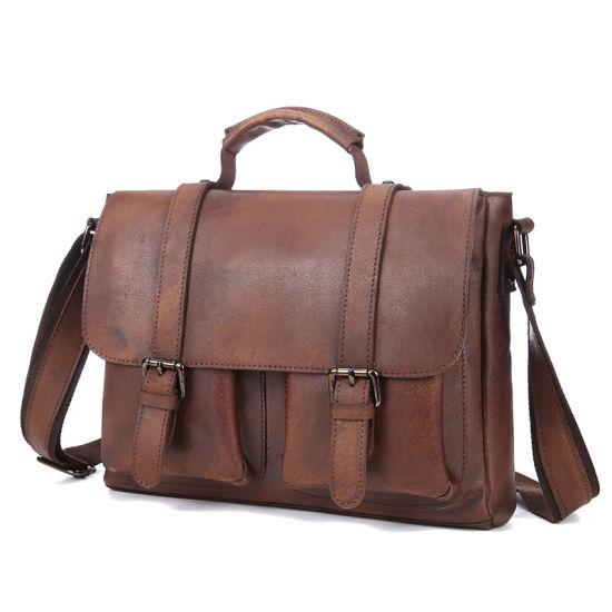 d883fbb13202 Newest Designer Bag Good Quality Retro Brown Cow Leather Messenger Bag  Briefcase for Men
