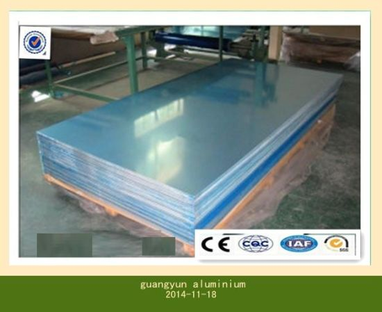 Aluminum Sheet Mill Finish with Blue/White PVC Coated pictures & photos