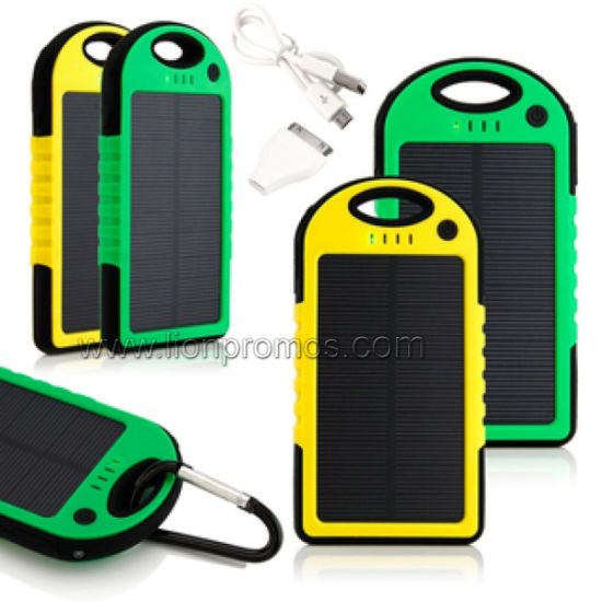 Universal Outdoor Travel Waterproof Mobile Silicone Solar Power Bank