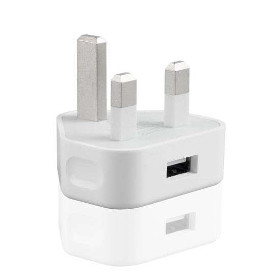 1A/2A UK Plug USB Wall Charger Travel Adapter for iPhone