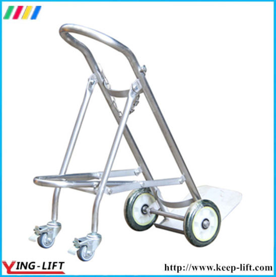 Foldable Stainless Steel Cylinder Hand Trolley Ty120b pictures & photos