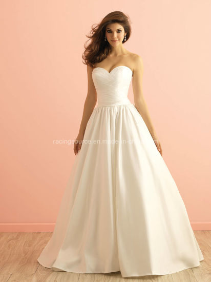 2016 Satin Bridal Ball Gown with Pocket Wedding Dress
