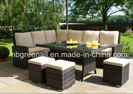 Outdoor Rattan Chair Table Dining Set Wicker Furniture pictures & photos