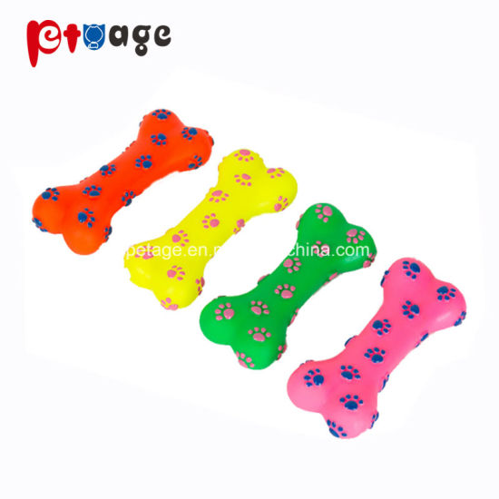 Pet Products Pawprint Bone Chewing Vinyl Toys Dog Toys