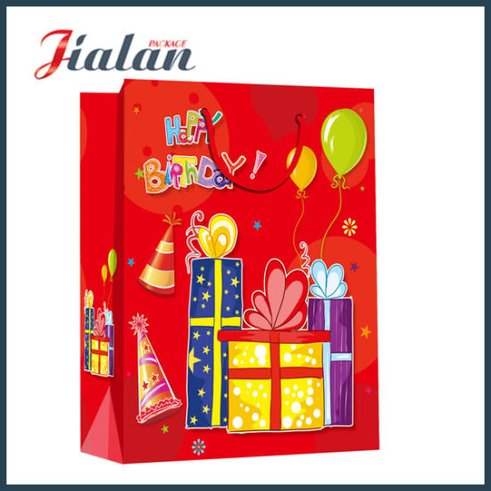 Customize 4c Logo Printed Wholesales Cheap Price 3D Paper Bag pictures & photos