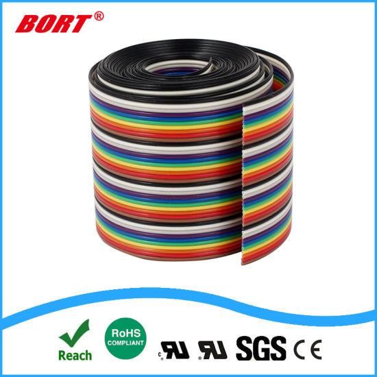 6965d731ba99 China UL2468 40pin Ribbon IDC Cable Wire Rainbow Cable Flat Ribbon ...