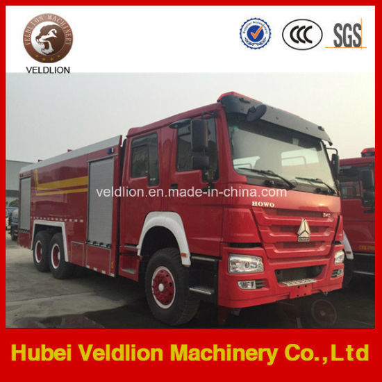 336HP 6X4 12m3 Fire Truck (10m3 water tank, 2m3 foam tank) pictures & photos