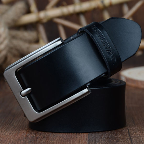 Men belt cow genuine leather luxury strap male belts for men new fashion classice vintage pin buckle