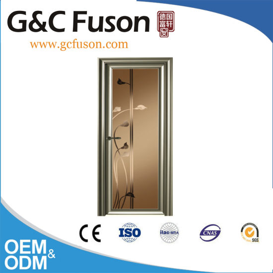 China Suppliers Champagne Color Single Aluminium Doors in Kenya pictures & photos
