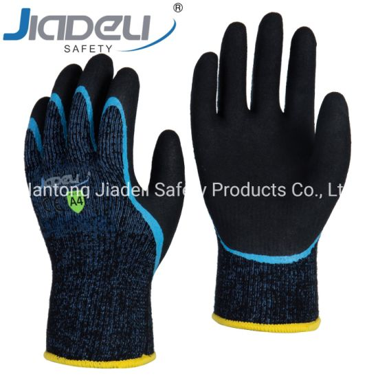 BSCI Certified Manufacturer Custom Logo Personal Hands Safety Acrylic Cut Resistant Safety Glove for Winter