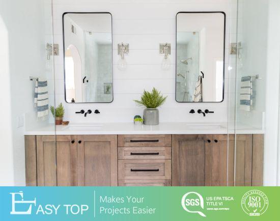 European Style Nature Solid Wood Vanity Mirror Bathroom Cabinet Furniture