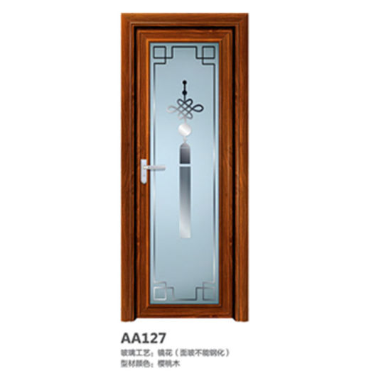 China Home Standard Competitive Price Aluminium Toilet Door Glass Door China Aluminum Toilet Door Glass Door