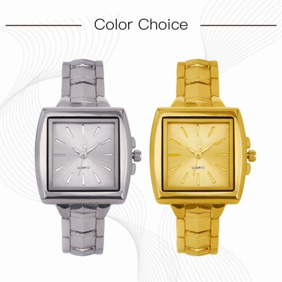 Lady Alloy Watch Colorful Dials Waterproof Women Wristwatch Quartz Wholesales (JY-AL073)