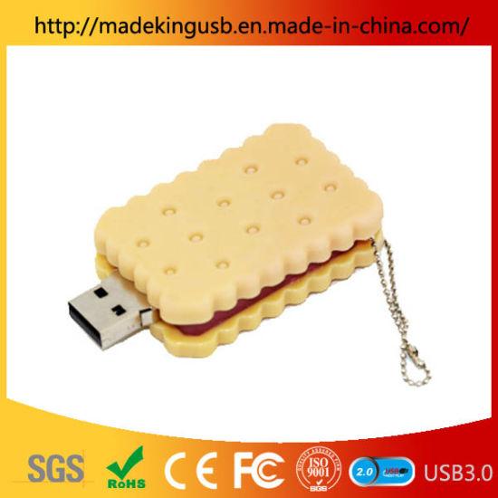 Food Shape Biscuit USB Flash Drive Cookie USB Pen Drive PVC USB Flash Drive