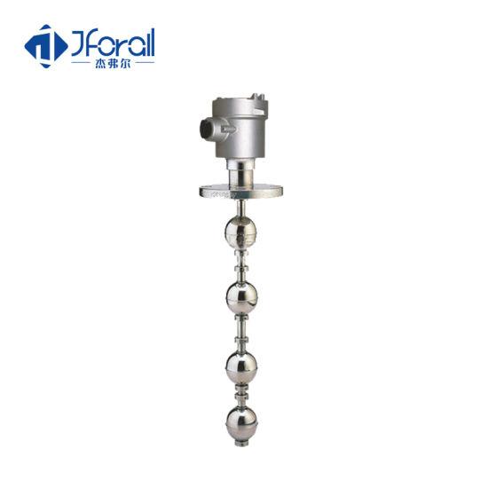 Jforall Flange Type 0-10V Two Float Ball Water Oil Pressure Level Switch Sensor for Tank