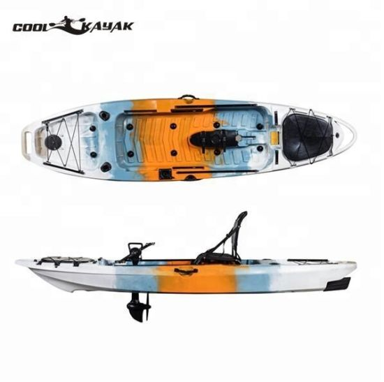 Single Plastic Pedal Drive Rowing No Inflatable Fishing Kayak with Pedal Boat