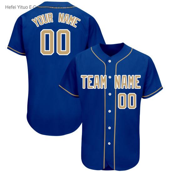 Hot Sublimation Printing Mesh Quick-Drying Baseball Jerseys