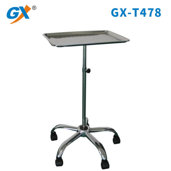 Hospital Stainless Steel Table Trolley (GX-T478)