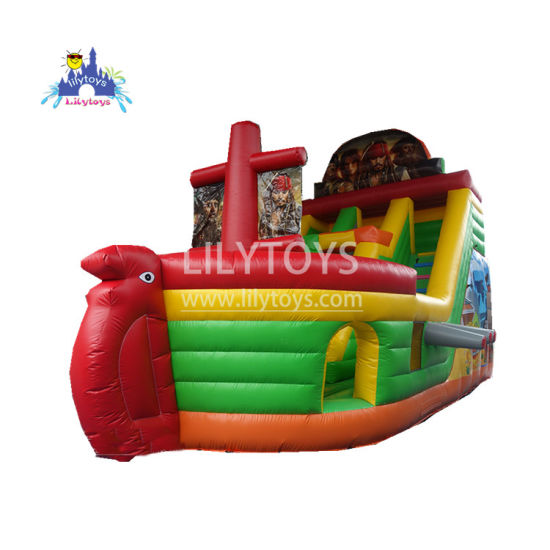 Inflatable Toy Thematic Model of Pirate Ships Inflatable Dry Slide for Hot-Selling pictures & photos