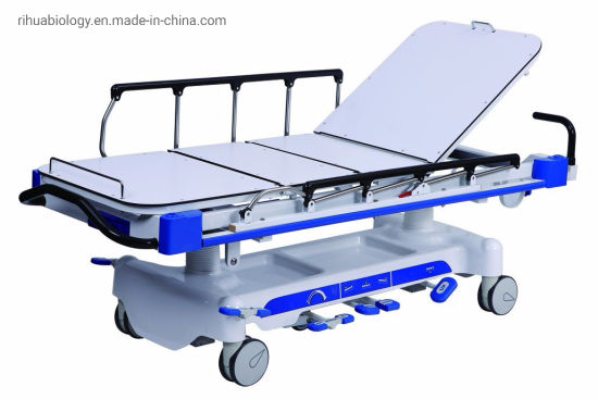 Rh-D205 Hospital Luxrious Hydraulic Rise and Fall Stretcher Cart