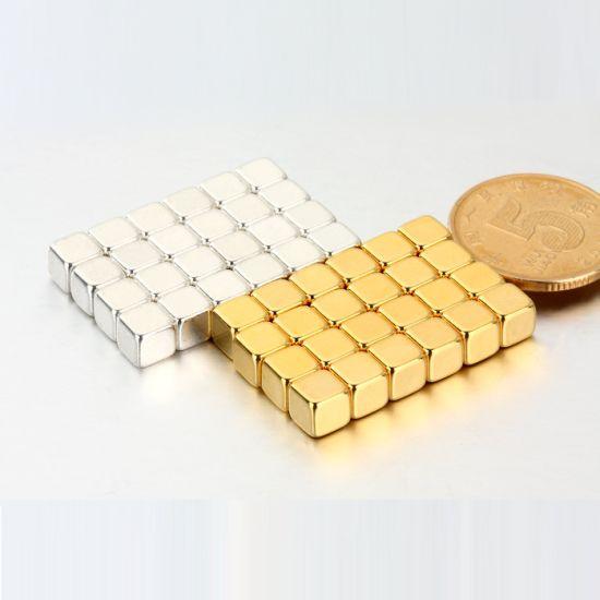 Au / AG Coating N52 Strong Pull Force Block Magnet