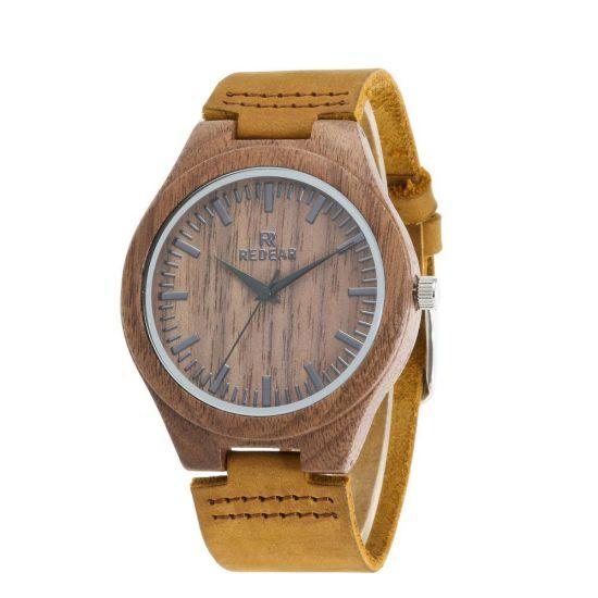 Wholesale Original Men's Watch Walnut Personalized Watch Genuine Leather Quartz Watch Fashion Simple Men's Watch