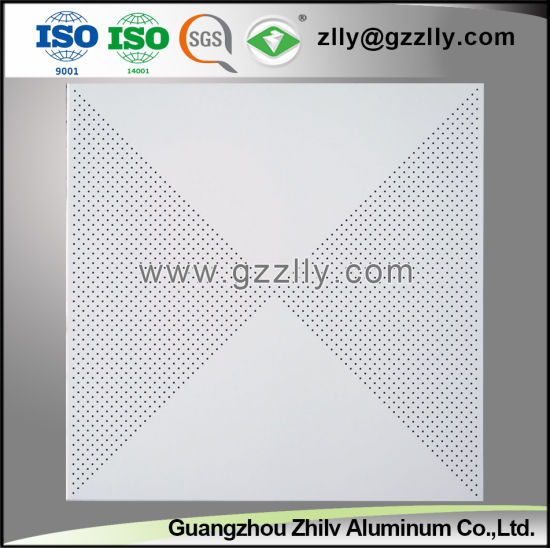 Hot Selling Perforated Pattern Imitation Panel of Roll Coating Ceiling pictures & photos