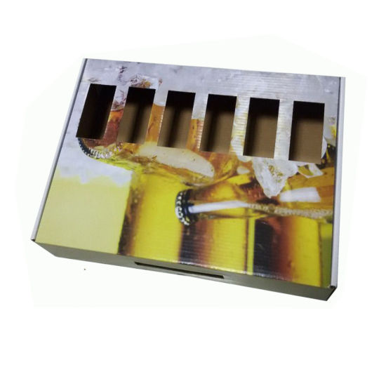 White Corrugated Cardboard Packing Box for Bottles