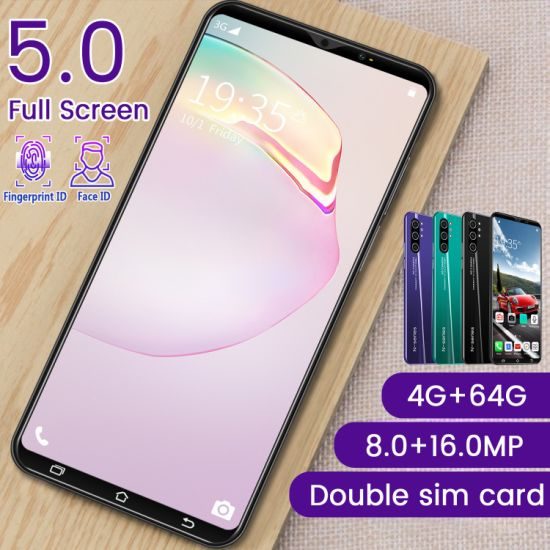 Factory Wholesale New Smart Phone Note10 Screen 5.0 Inch 4GB + 64GB Unlock The Original Dual SIM Cell Phone 4G Mobile Phone