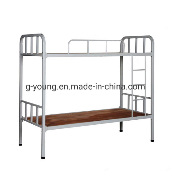 China Simple Design Double Tiers School Or Factory Bunk Beds China Bunk Bed School Metal Bed