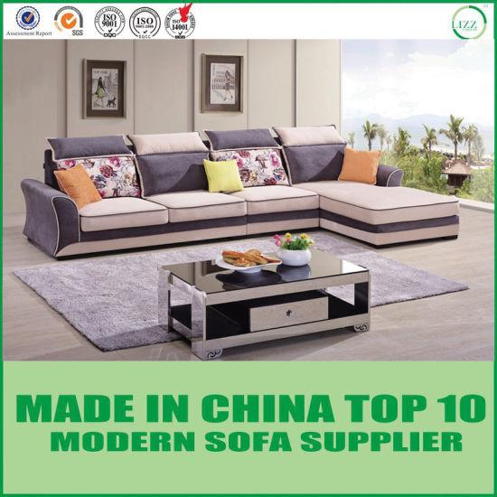 China Living Room Velvet Fabric Sectional L-Shape Corner Sofa ...