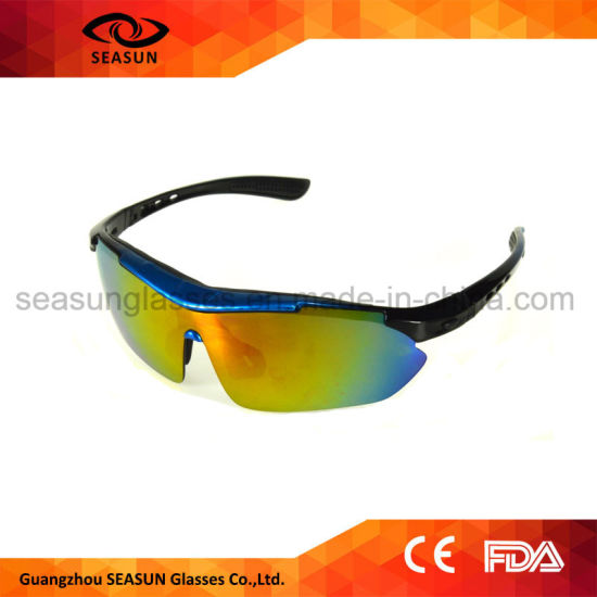 576404ceb79 Custom One Piece HD Vision Coating Lens Changeable Arms Cycling Driving Sports  Sunglasses