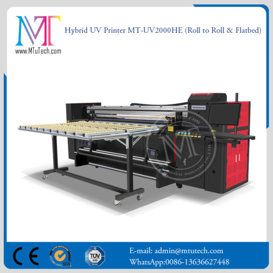 China Large Format Inkjet Digital Flatbed Printing Machine For