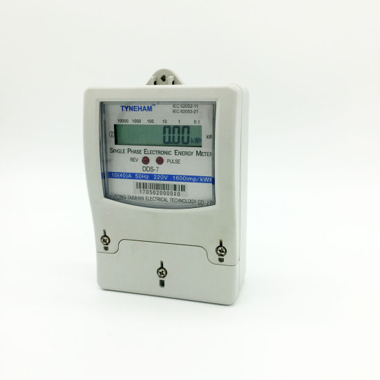 Dds-7 Single Phase Two Wire Kwh Meter Plastic 10 (60) a pictures & photos