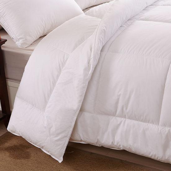 Queen Comforter Duvet Insert White - Quilted Comforter with Corner Tabs - Hypoallergenic, Box Stitched Down Alternative