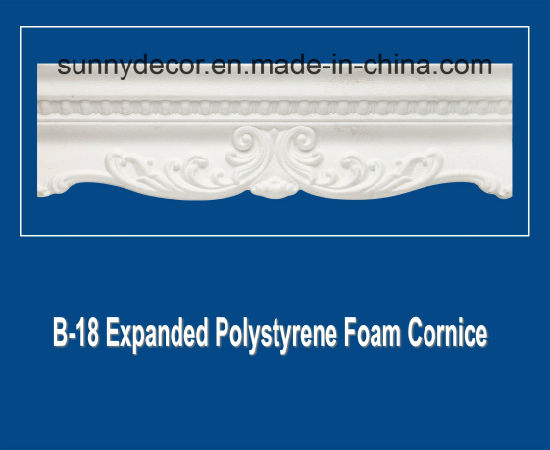 EPS Foam Cornice B-18 Extruded Polystyrene Foam Decorative Ceiling