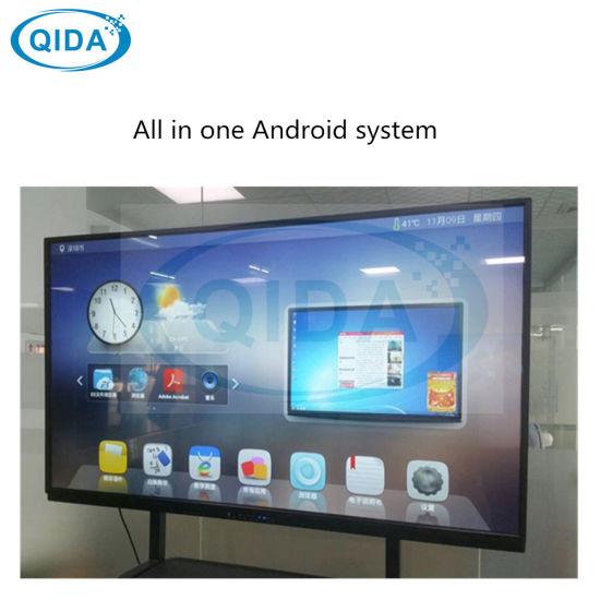 84 Inch Windows Network Electronic Whiteboard Teaching Touch Screen Kiosk