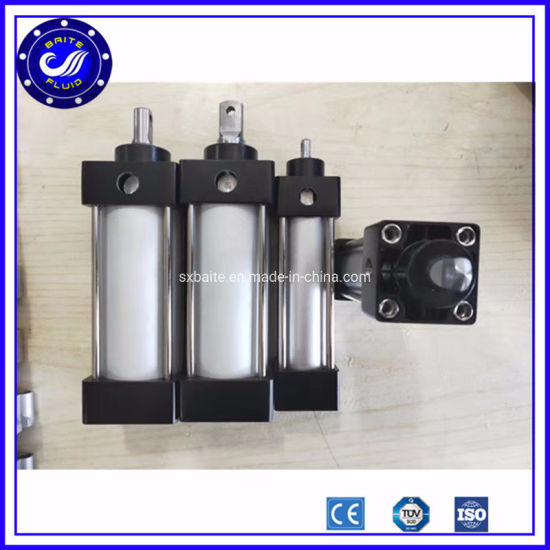 Customized 100mm Bore Long Stroke Double Piston Double Acting Pneumatic Cylinder
