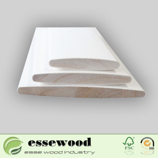Primed Wooden Build Out Window Shutter Parts Louver Profiles