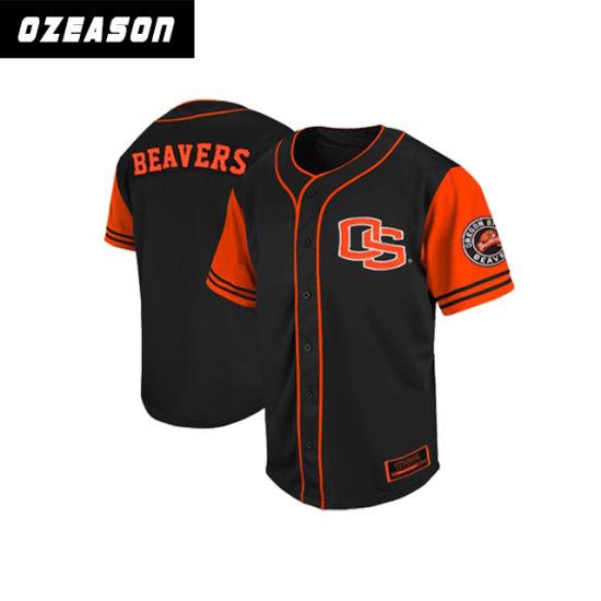 Fashion Sportswear Sublimation 100% Mesh Polyester Baseball Jersey