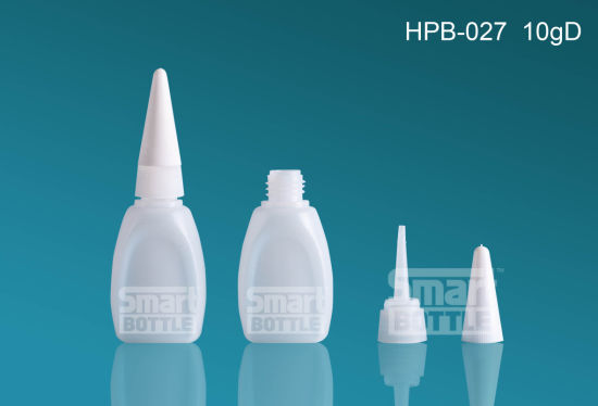 Hopson 10g Hot Selling Plat Plastic Bottle for Glue