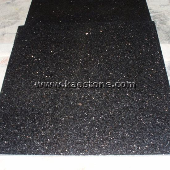 China Polishedhigh Quality Black Galaxy Granite For Floor Tiles