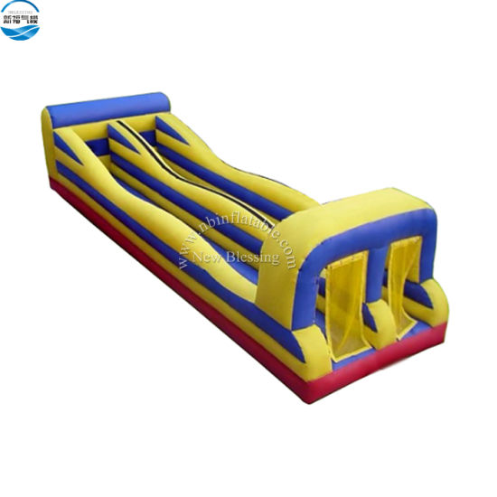 Commercial Double Lane Inflatable Carnival Bungee Run Game for Adults