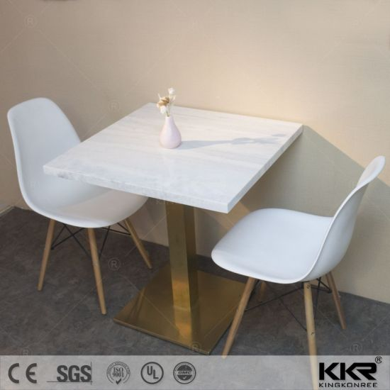 Kkr Customized Dining Table Solid Surface Restaurant Table (180426) pictures & photos